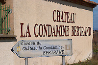 Chateau la Condamine Bertrand. Pezenas region. Languedoc. France. Europe.