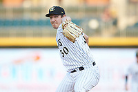 Charlotte Knights starting pitcher Asher Wojciechowski (30) in action against the Buffalo Bison at BB&T BallPark on August 14, 2018 in Charlotte, North Carolina. The Bison defeated the Knights 14-5.  (Brian Westerholt/Four Seam Images)