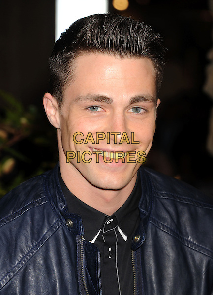 "Colton Haynes.""Jack The Giant Slayer"" Los Angeles Premiere held at Grauman's Chinese Theatre, Hollywood, California, USA..February 26th, 2013.headshot portrait black blue leather .CAP/ROT/TM.©Tony Michaels/Roth Stock/Capital Pictures"
