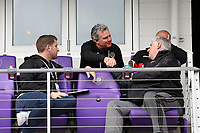 Orlando, Florida - Saturday January 13, 2018: Tim Hanley and Sigi Schmid. Match Day 1 of the 2018 adidas MLS Player Combine was held Orlando City Stadium.