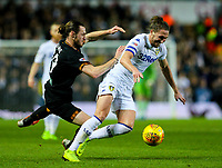 Leeds United's Luke Ayling is fouled by Hull City's Will Keane<br /> <br /> Photographer Alex Dodd/CameraSport<br /> <br /> The EFL Sky Bet Championship - Leeds United v Hull City - Saturday 29th December 2018 - Elland Road - Leeds<br /> <br /> World Copyright © 2018 CameraSport. All rights reserved. 43 Linden Ave. Countesthorpe. Leicester. England. LE8 5PG - Tel: +44 (0) 116 277 4147 - admin@camerasport.com - www.camerasport.com