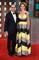 Stanley Tucci and wife, Felicity Blunt<br /> at the 2017 BAFTA Film Awards held at The Royal Albert Hall, London.<br /> <br /> <br /> ©Ash Knotek  D3225  12/02/2017