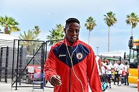 Orlando, FL - Wednesday June 08, 2016:  Haiti arrives at the stadium prior to a Copa America Centenario Group B match between Brazil (BRA) and Haiti (HAI) at Camping World Stadium.
