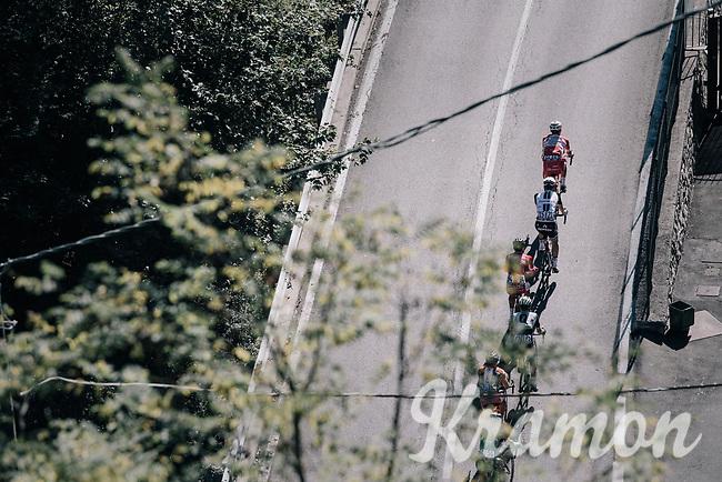 breakaway group up the first climb of the day: the Colle Gallo (763m)<br /> <br /> Il Lombardia 2017<br /> Bergamo to Como (ITA) 247km