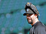 25 August 2007:  Colorado Rockies first baseman Todd Helton awaits his turn in the batting cage prior to a game against the Washington Nationals at Coors Field in Denver, Colorado. The Rockies defeated the Nationals 5-1 in the second game of their 3-game series...Mandatory Photo Credit: Ed Wolfstein Photo