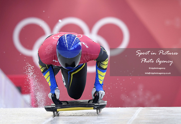 Vladyslav Heraskevych (UKR). Skeleton training. Alpensia sliding centrePyeongchang2018 winter Olympics. Alpensia. Republic of Korea. 13/02/2018. ~ MANDATORY CREDIT Garry Bowden/SIPPA - NO UNAUTHORISED USE - +44 7837 394578