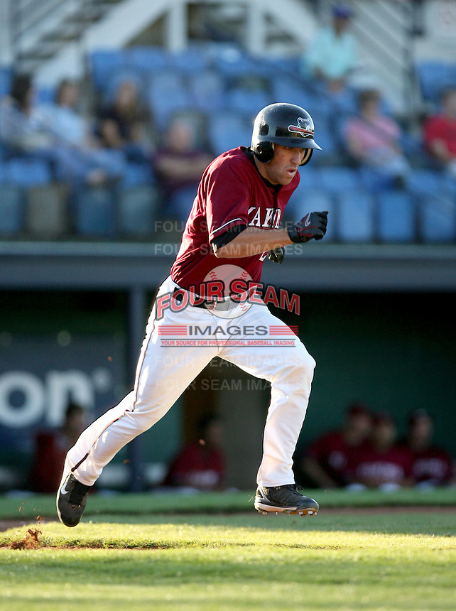 Justin Parker / Yakima Bears running to first base in a game against the Boise Hawks - Boise, ID - 08/27/2008..Photo by:  Bill Mitchell/Four Seam Images