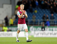 Burnley's Ben Mee applauds the fans at the final whistle<br /> <br /> Photographer Rich Linley/CameraSport<br /> <br /> The Premier League - Burnley v Everton - Saturday 5th October 2019 - Turf Moor - Burnley<br /> <br /> World Copyright © 2019 CameraSport. All rights reserved. 43 Linden Ave. Countesthorpe. Leicester. England. LE8 5PG - Tel: +44 (0) 116 277 4147 - admin@camerasport.com - www.camerasport.com