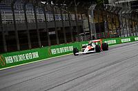 14th November 2019, Autodromo Jose CarlPace, SAO PAULO, Brazil ; Bruno Senna in the McLaren MP4/4 during the 2019 Formula One Brazilian Grand Prix preparations