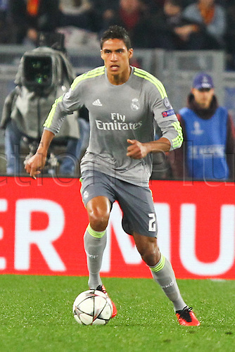 17.02.2016. Stadio Olimpico, Rome, Italy. UEFA Champions League, Round of 16 - first leg AS Roma versus Real Madrid. VARANE RAPHAEL IN ACTION