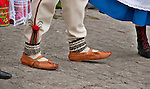 Traditional clothes and shoes in Krakow, Poland