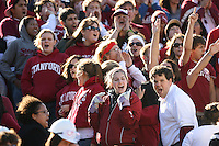 2 December 2006: Student fans cheer during Stanford's 26-17 loss to Cal in the 109th Big Game at Memorial Stadium in Berkeley, CA.