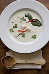 May0013273 . Daily Telegraph..Thai Chicken and Galangal Coconut cream soup cooked by Rose Prince..11 May 2009  London