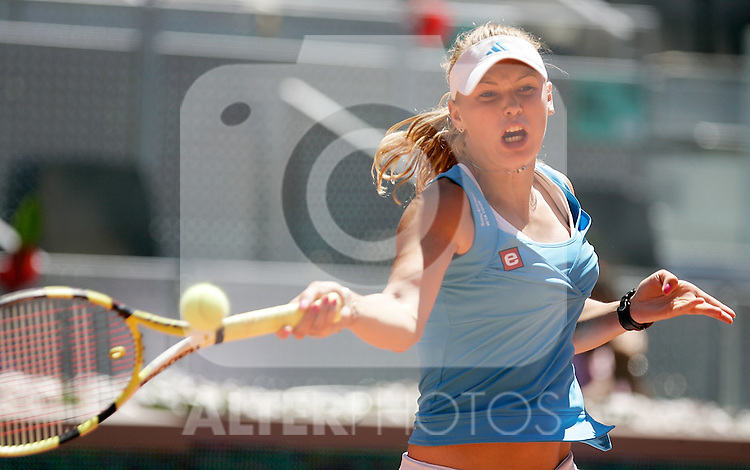Denmark's Caroline Woziniacki during her Madrid Open final match. May 16, 2009. (ALTERPHOTOS/Alvaro Hernandez)