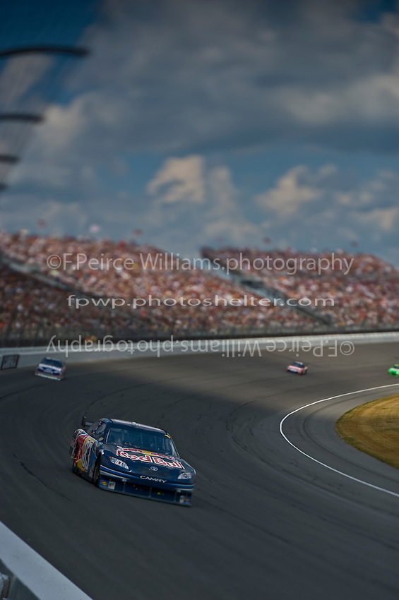 15-17 August 2008, Brooklyn, Michigan.Brian Vickers leads. (Note:Image was taken using a tilt/shift lens).©F.Peirce Williams 2008.F. Peirce Williams.photography