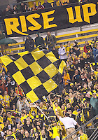 24 APRIL 2010:  Crew Supporters during the Real Salt Lake at Columbus Crew MLS soccer game in Columbus, Ohio. Columbus Crew defeated RSL 1-0 on April 24, 2010.