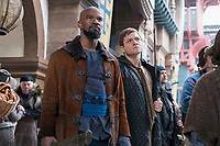 Robin Hood (2018)<br /> 'John' (Jamie Foxx, left) and 'Robin' (Taron Egerton, right) <br /> *Filmstill - Editorial Use Only*<br /> CAP/KFS<br /> Image supplied by Capital Pictures