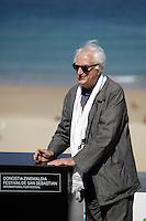 "Director Bertrand Tavernier in the photocall of the ""Quai D´orsay"" film presentation during the 61 San Sebastian Film Festival, in San Sebastian, Spain. September 24, 2013. (ALTERPHOTOS/Victor Blanco) <br /> San Sebastian Film Festival <br /> Foto Insidefoto"