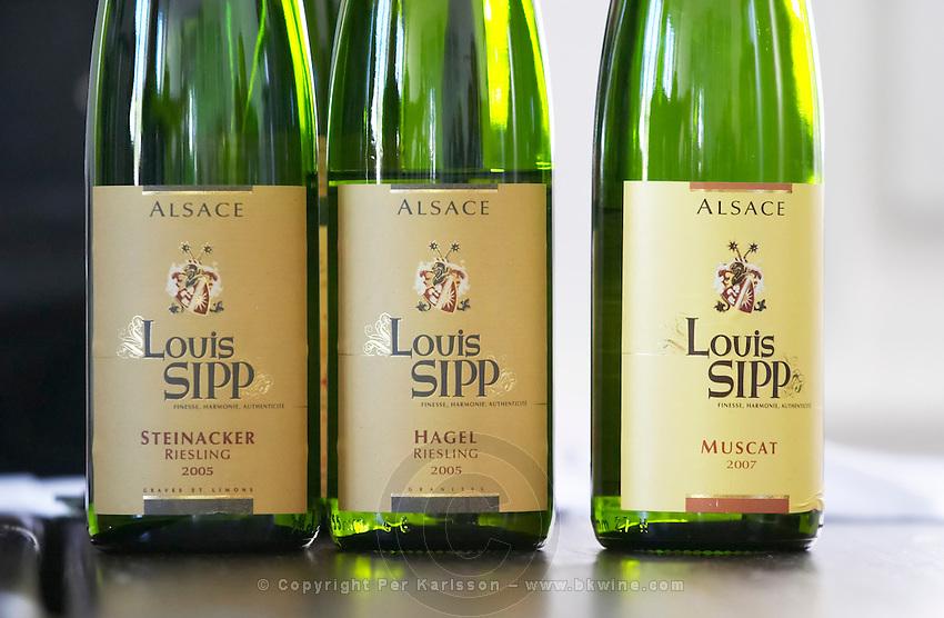 riesling steinacker 2005, hagel 2005, muscat 2007 dom. louis sipp ribeauville alsace france