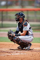 GCL Marlins catcher Will Banfield (10) during a game against the GCL Mets on August 3, 2018 at St. Lucie Sports Complex in Port St. Lucie, Florida.  GCL Mets defeated GCL Marlins 3-2.  (Mike Janes/Four Seam Images)