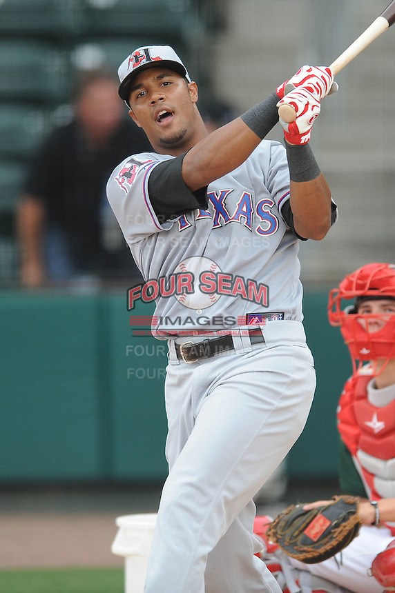 Hickory Crawdads Miguel Velazquez South Atlantic League All Star Game at Fluor Field in Greenville, South Carolina June 22, 2010.   The game ended in a 5-5 tie.  Photo By Tony Farlow/Four Seam Images