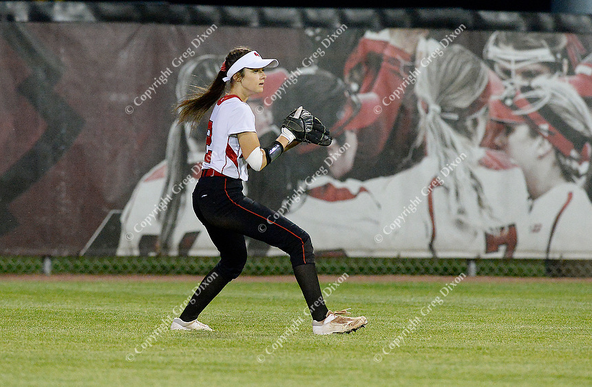 Sun Prairie high school competes at the 2019 Division 1 Wisconsin WIAA girls state high school softball tournament on Saturday, June 8 at Goodman Diamond in Madison, Wisconsin. Sun Prairie falls to Oshkosh North 4-2 in 9 innings
