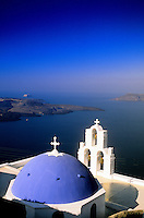 village of Firostefani, island of Santorini, the Cyclades, Greece