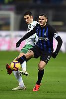 Mauro Icardi-Federico Peluso<br /> Milano 19-1-2019 Giuseppe Meazza stadium Football Serie A 2018/2019 Inter - Sassuolo <br /> Foto Image Sport / Insidefoto
