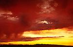 Stormy sunset near Moab, Utah