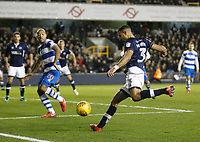 James Meredith of Millwall crosses the ball during the Sky Bet Championship match between Millwall and Queens Park Rangers at The Den, London, England on 29 December 2017. Photo by Carlton Myrie / PRiME Media Images.