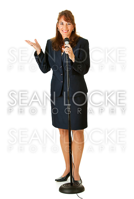 Series with an adult female in a suit, playing the part of a United States politician.  Different props provide a variety of concepts.  Isolated on a white background.