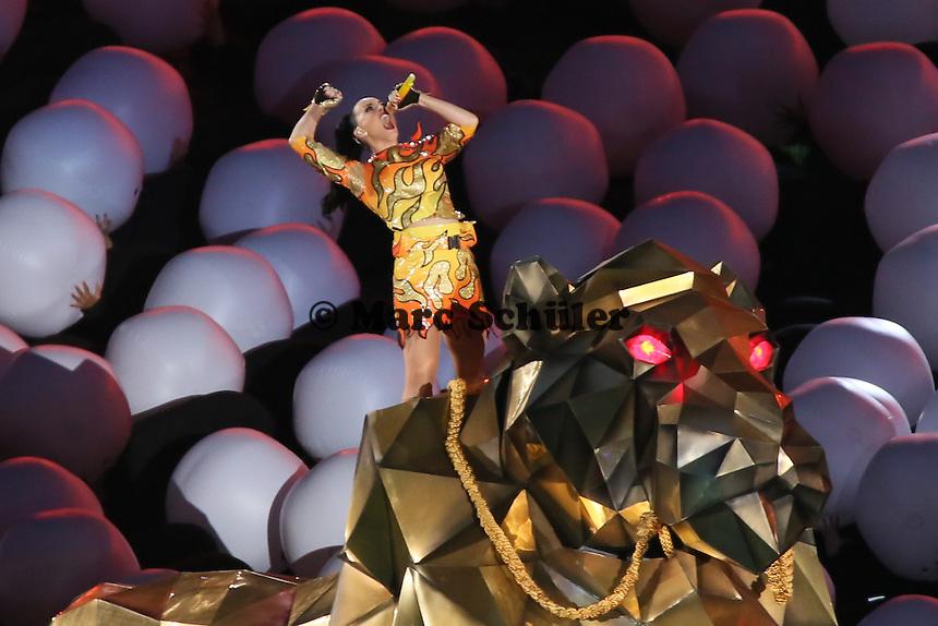 Halbzeitshow mit Katy Perry - Super Bowl XLIX, Seattle Seahawks vs. New England Patriots, University of Phoenix Stadium, Phoenix