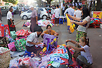 Street Vendor Selling Clothing Near Gyee Zai Market