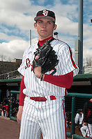 St. John's University Redstorm pitcher Mike Sheppard III (22) during game 1 of a double header against the University of Cincinnati Bearcats at Jack Kaiser Stadium on March 28, 2013 Queens, New York.  St. John's defeated Cincinnati 6-5 in game 1.                                                  (Tomasso DeRosa/ Four Seam Images)