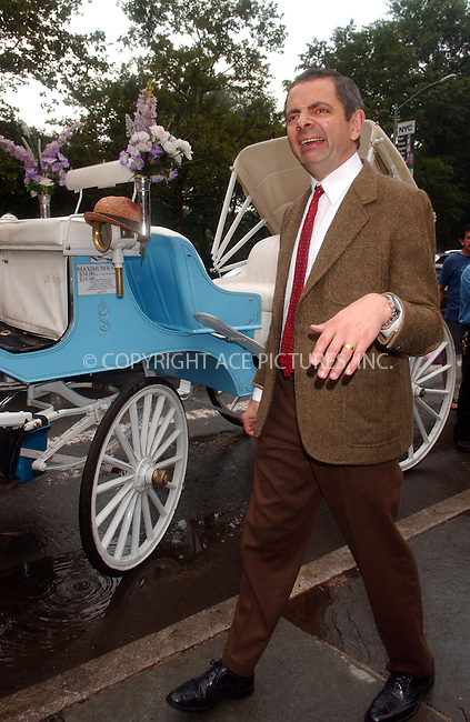 WWW.ACEPIXS.COM . . . . .....July 19 2007, New York City....Actor Rowan Atkinson, in his character Mr Bean performed for the press in Central Park in midtown Manhattan. ....Please byline: KRISTIN CALLAHAN - ACEPIXS.COM.. . . . . . ..Ace Pictures, Inc:  ..(646) 769 0430..e-mail: info@acepixs.com..web: http://www.acepixs.com