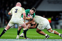 Mako Vunipola of England takes on the England defence. RBS Six Nations match between England and Ireland on February 27, 2016 at Twickenham Stadium in London, England. Photo by: Patrick Khachfe / Onside Images