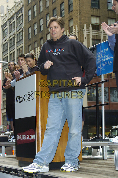 "JIM BREUER.Reebok ""Run Easy"" movement promotion in Times Square, New York City, New York, USA..May 2nd, 2007.full length black hooded top hand on hip.CAP/ADM/BL.©Bill Lyons/AdMedia/Capital Pictures *** Local Caption ***"