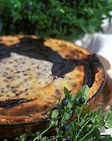"""Europe/France/Auvergne/15/Cantal/Paulhac: Tarte aux myrtilles - recette de François Rongier du """"Relais des Gourmets"""""""