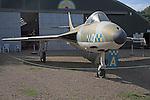 Hawker Hunter FGA9 Norfolk  Suffolk aviation museum Flixton Bungay England.