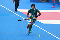 Pakistan's Ali Shan in action during the Hockey World League Semi-Final match between Pakistan and India at the Olympic Park, London, England on 18 June 2017. Photo by Steve McCarthy.