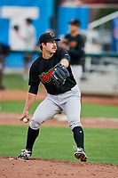 Great Falls Voyagers starting pitcher Kyle Von Ruden (17) delivers a pitch to the plate against the Ogden Raptors at Lindquist Field on September 14, 2017 in Ogden, Utah. The Raptors defeated the Voyagers 7-4 in Game One of the Pioneer League Championship. (Stephen Smith/Four Seam Images)