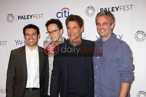 Fred Savage, Jarrad Paul, Rob Lowe, Andrew Mogel<br /> at the PaleyFest 2015 Fall TV Preview - FOX, Paley Center For Media, Beverly Hills, CA 09-15-15<br /> David Edwards/DailyCeleb.com 818-249-4998