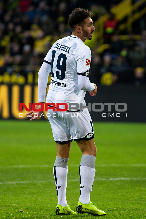 09.02.2019, Signal Iduna Park, Dortmund, GER, 1.FBL, Borussia Dortmund vs TSG 1899 Hoffenheim, DFL REGULATIONS PROHIBIT ANY USE OF PHOTOGRAPHS AS IMAGE SEQUENCES AND/OR QUASI-VIDEO<br /> <br /> im Bild | picture shows:<br /> Einzelaktion Ishak Belfodil (Hoffenheim #19),  <br /> <br /> Foto © nordphoto / Rauch