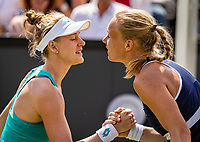 Rosmalen, Netherlands, 16 June, 2019, Tennis, Libema Open,Runner up  Kiki Bertens (NED) (R) congratulates winner Alison Riske (USA)<br /> Photo: Henk Koster/tennisimages.com