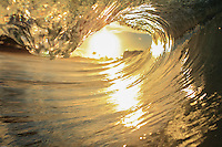 Golden tube at sunrise, Sandy Beach, O'ahu