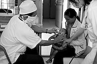 Health center in Cambodia. In the rural areas, Cambodia, has one of the worst under five mortality rate :  111 deaths per  1000 live births <br /> (World Health Organisation). The programme fund by NGO GRET is trying to tackle the issue. Trapeng Andeuk, Takeo province, Cambodia-2009