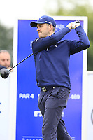 Stuart Manley (WAL) on the 1st tee during Sunday's Final Round of the Northern Ireland Open 2018 presented by Modest Golf held at Galgorm Castle Golf Club, Ballymena, Northern Ireland. 19th August 2018.<br /> Picture: Eoin Clarke | Golffile<br /> <br /> <br /> All photos usage must carry mandatory copyright credit (&copy; Golffile | Eoin Clarke)