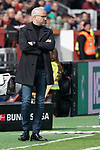 17.03.2019, BayArena, Leverkusen, GER, 1. FBL, Bayer 04 Leverkusen vs. SV Werder Bremen,<br />  <br /> DFL regulations prohibit any use of photographs as image sequences and/or quasi-video<br /> <br /> im Bild / picture shows: <br /> Peter Bosz Trainer / Headcoach (Bayer 04 Leverkusen),<br /> <br /> Foto © nordphoto / Meuter