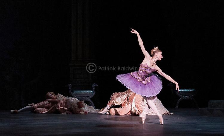 "English National Ballet. ""Sleeping Beauty"". Vadim Muntagirov, Tamara Rojo and Daria Klimentova."