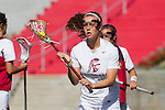 Los Angeles, CA 04/22/16 - unidentified USC player(s) in action during the NCAA Stanford-USC Division 1 women lacrosse game at the Los Angeles Memorial Coliseum.  USC defeated Stanford 10-9/